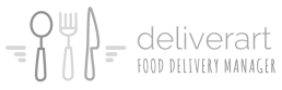 Deliverart Logo BN orizzontale