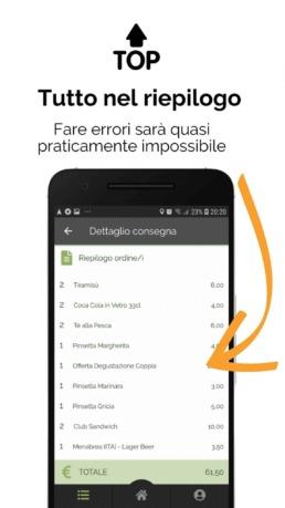 Deliverart - App corriere | Riepilogo consegna a domicilio