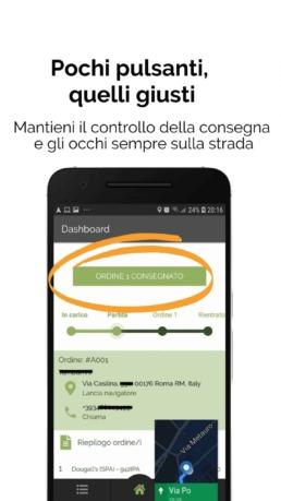 Deliverart - App corriere | Gestione consegna a domicilio e navigatore