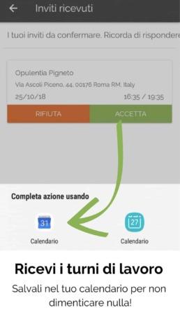 Deliverart - App corriere | Calendario turni